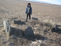 Старые нехристианские  захоронения около монгольской границы