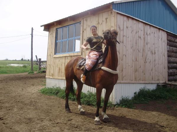 Наташка на коне